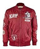 Kappa Alpha Psi Fraternity Mens Bomber Jacket 2XL Crimson Red