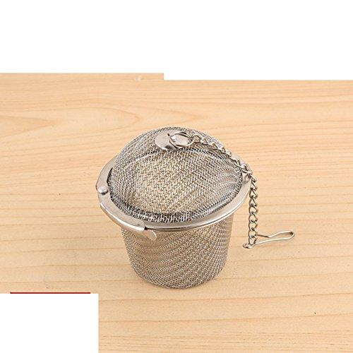 (Stainless steel seasoning ball Spice ball tea ball halogen material ball soup filter ball stew tea-tea strainer-C)