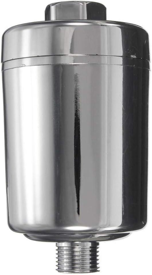 Baignoire Pomme de douche /à robinet for filtre purificateur deau Adoucisseur carbone chlore for /éliminer les polluants appropri/és Cuisine Salle-Argent Zixin Color : White