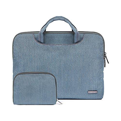 Jia Hu - Bolso bandolera para ordenador portátil, tamaño grande, 1 unidad Azul claro