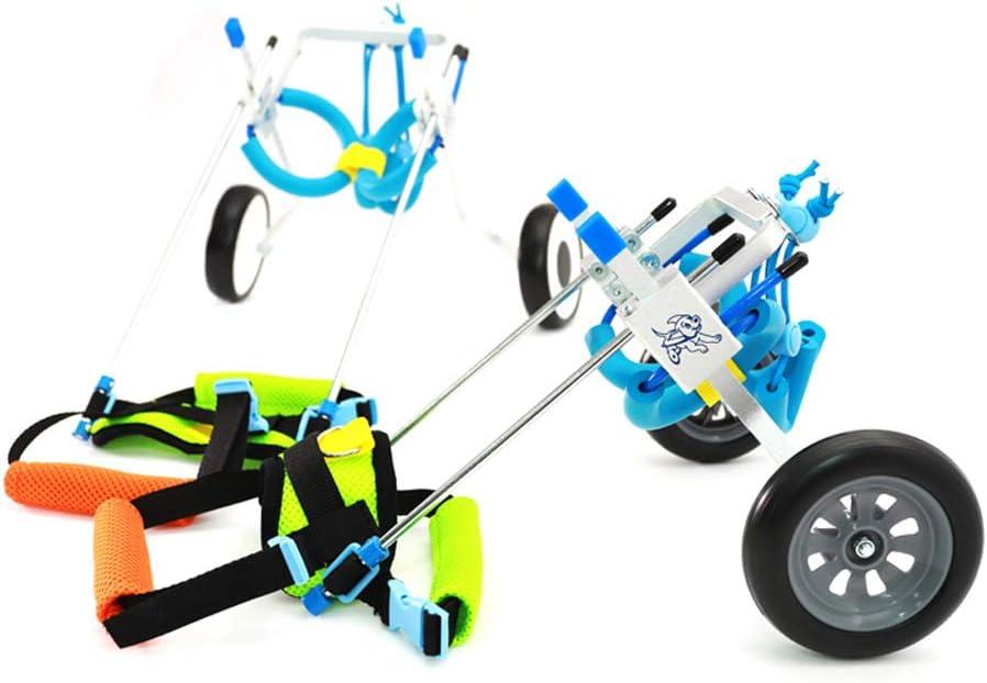 背もたれ用犬車椅子 ペットの車椅子、後肢の不自由な人、ハイエナ、子猫、ペットスクーター、後脚アシスト調節可能、体重2〜5KG、リハビリ犬の車椅子のヘルプ 車輪付き犬用カート (Size : S)