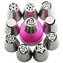 Mujiang Small Size Stainless Steel Russian Icing Piping Tips Baking Set Of 11