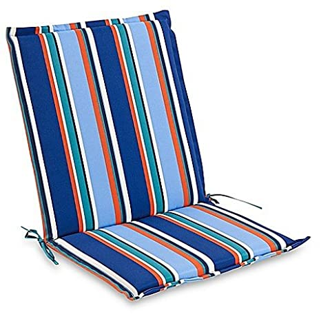 Brady Stripe Outdoor Folding Sling Chair Cushion In Cobalt