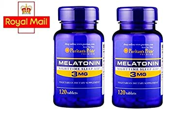 Image Unavailable. Image not available for. Color: Melatonin 3 Mg / 120 Tablets ...