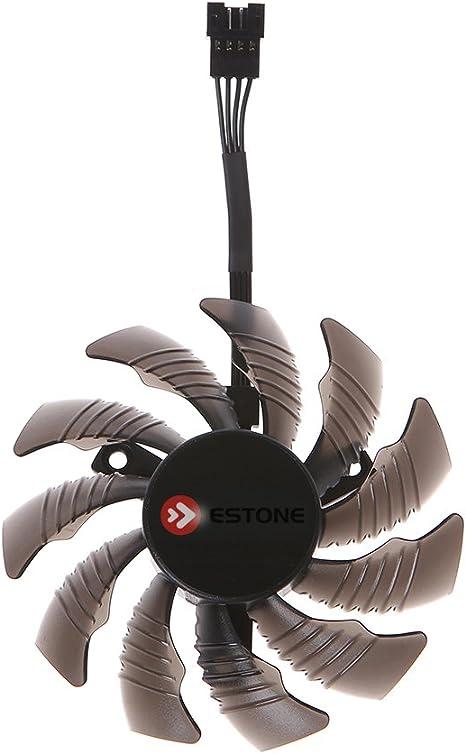 Foshan Cgration 12V Carte Graphique 4Pin Ventilateur de Refroidissement Pour Gigabyte GTX1050 1060 1070 1080 N960 N970