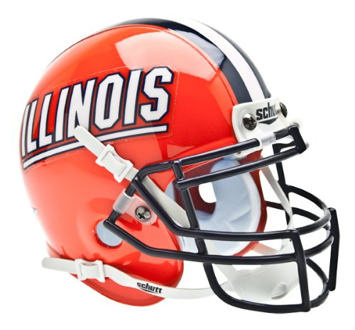 NCAA Illinois Collectible Mini Football Helmet (Mini Fighting Sports)