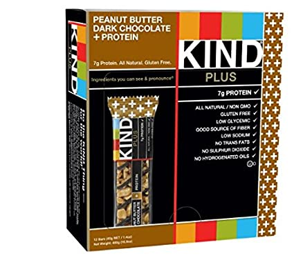 Kind Nuts -Peanut Butter Dark Chocolate + Protein, Gluten Free Bars 12 Count 1.4 Oz