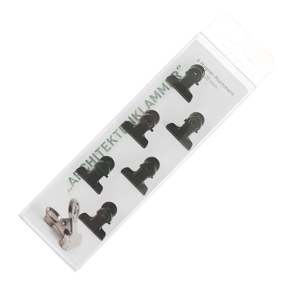 HAB /& GUT Magnetklemmen 6 Stück in CHROM KUPFER oder SCHWARZ 20mm mit Magnet