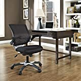 Modway Edge Office Chair with Black Mesh Back and Mesh Fabric Seat