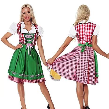 thematys® Dirndl Oktoberfest Vestido Tradicional - Conjunto de ...