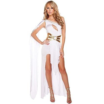De Halloween De La Mujer Traje De Un Hombro Sexy Diosa ...