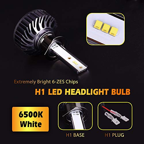 Infitary-H4-LED-Headlight-Bulbs-Conversion-Kits-HighLow-Beam-Auto-Headlamp-Dual-Beam-Car-Headlight-64W-6500K-8000LM-Extremely-Super-Bright-1-Pair-3-Year-Warranty-not-for-Daytime-Running-Lights