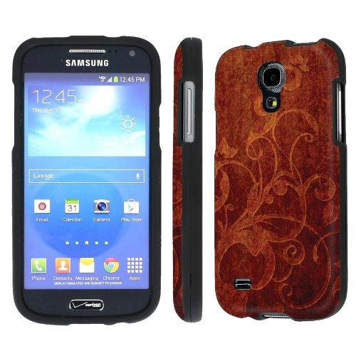 NakedShield Verizon Samsung Galaxy S4 Mini (Carved Wood) Total Hard Armor Art Phone Case