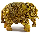 Eurasia Handmade Antique Resin Figurine Of Elephant Gold Color 4.5''