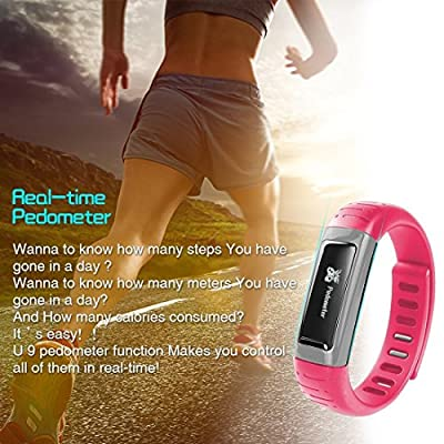 Next-shine Bluetooth Fitness Activity Tracker with Sleep Monitor Pedometer,Pink