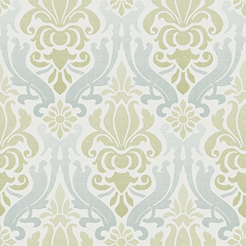 (Wall Pops NU1656 Nouveau Damask Peel and Stick Wallpaper,)
