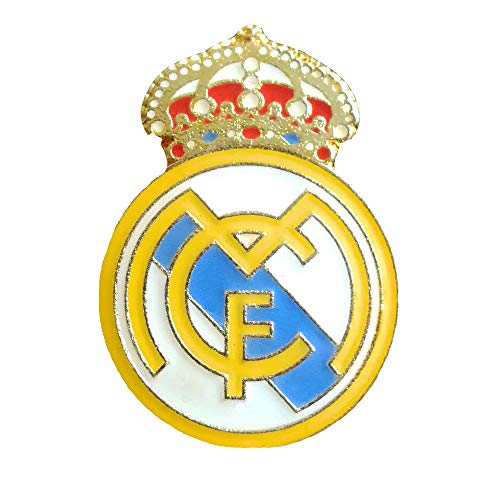 ZQfans Football Club Soccer Team Logo Badge Metal Crest Pin for Soccer Fans (Real Madrid)