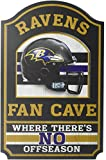 ": NFL Fan Cave Wood Sign, 11"" x 17"""