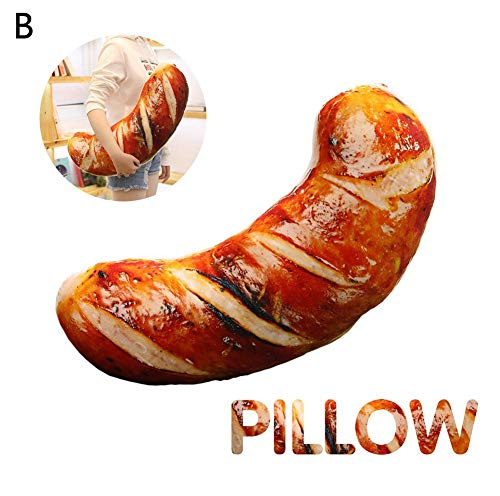 - Woolves Food Pillow 3D Simulation BBQ Creative Grilled Big Squid Sausage Roasted Red Pepper Funny Sleeping Hugging Soft Plush Toys Cushions for Home Sofa Nursery Decoration