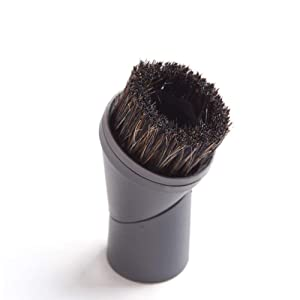 EZ SPARES Vacuum Cleaner Universal Horsehair Dust Small Mini Floor Brush Cleaning Rotating Brush Accepting Replacement for All Brands Like Miele 07132710