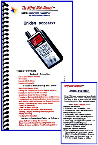 (Uniden BCD396XT Mini-Manual and Card Combo by Nifty Accessories )
