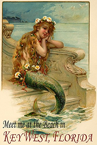 (Little Mermaid Siren Girl Meet HER at The Beach in Key WEST Florida Travel Tourism 12