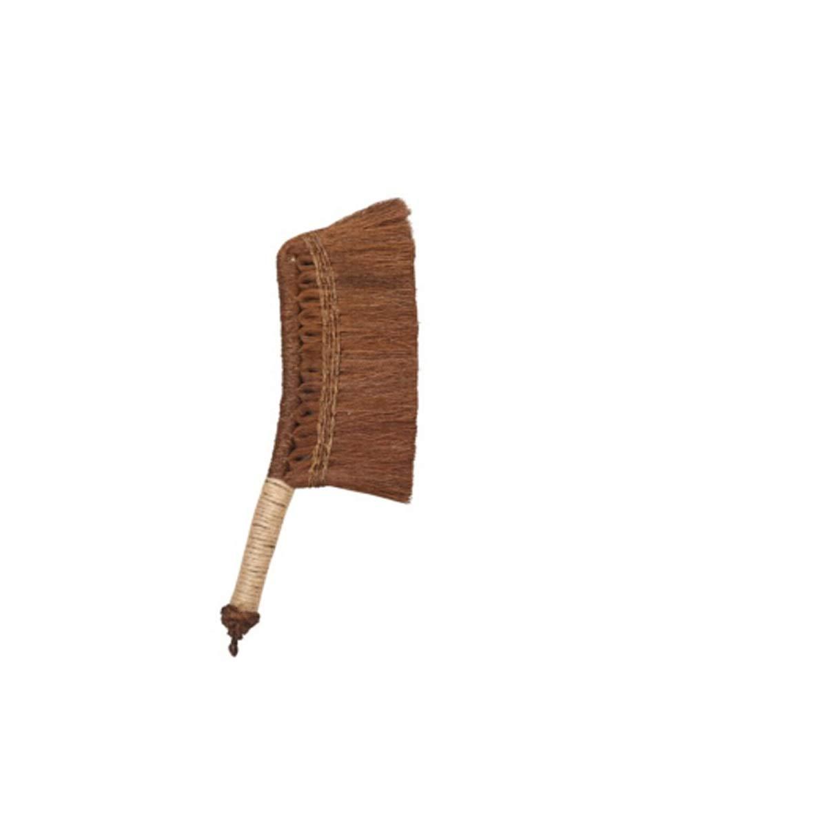 Hengtongtongxun Cleaning Brush, Manual Long Handle Bed Brush, Sofa Dusting Sweeping Machine Car Hair Brush, Small, Brown Brush, (Color : Brown)
