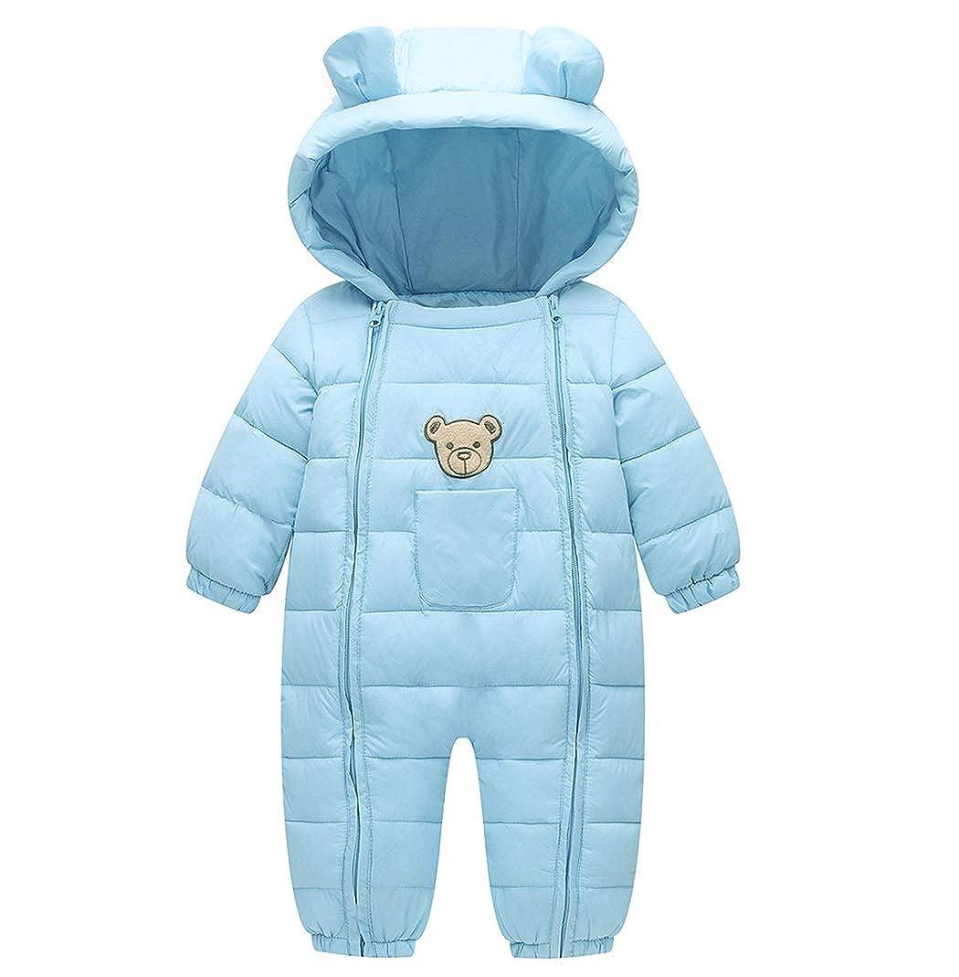 Milkiwai Infant Baby Boy Girl Winter Warm Romper Packable Thick Jumpsuit Snowsuit