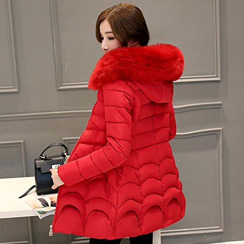 In The Cotton Of Long Winter Hair Section red Was Slim Jacket Cotton Thin Women Long Thickening Warm Xuanku Collar Women pqzgx