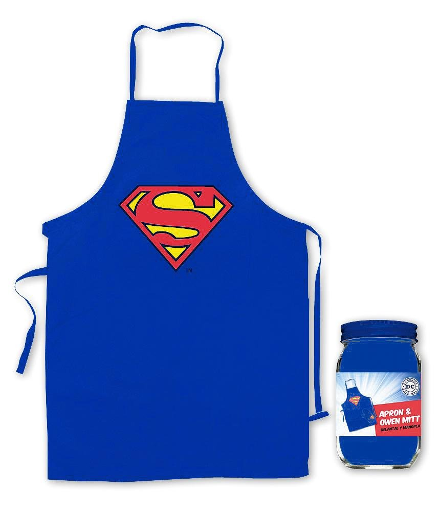 Superman Apron and Oven Mitt Logo by Superman