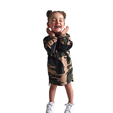 24e8021127017 Kollmert Kids Princess Dress Toddler Infant Baby Girl Camouflage Dress  Outfit Clothes (Camouflage, 12M