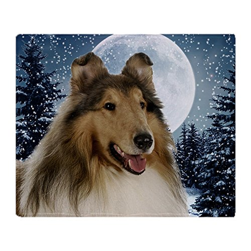CafePress Collie Soft Fleece Throw Blanket, 50
