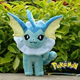 Stuffed Vaporeon - Plush Animal Pokemon Thats Suitable For Babies and Children - Perfect Birthday Gifts - Toy Doll for Baby, Kids and Toddlers - 6""