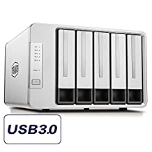TerraMaster D5-300C USB3.0(5Gbps) Type C 5-Bay RAID Enclosure Support RAID 0/1/Single Exclusive 2+3 RAID Mode Hard Drive RAID Storage (Diskless)