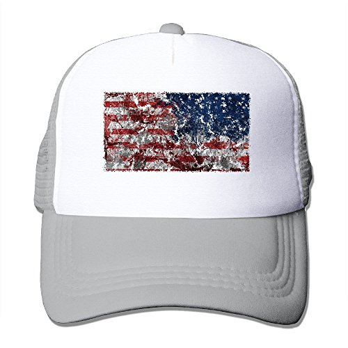 Fashion USA Independence Day Hiphop Hat Unisex Ash