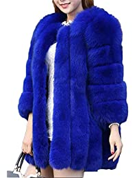 Amazon.com: Blue - Fur & Faux Fur / Coats, Jackets & Vests ...