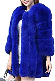 Amazon.com: Blue - Fur &amp Faux Fur / Coats Jackets &amp Vests