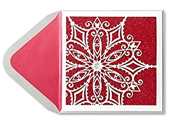 christmas card laser cut snowflake by papyrus - Laser Cut Christmas Cards