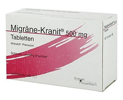 MIGRÄNE KRANIT 500 mg Tabletten 100 St Tabletten