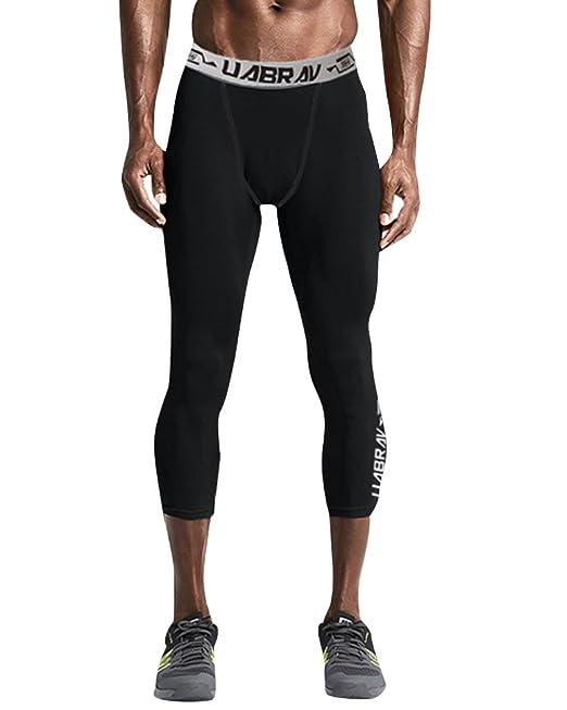 Hombres Entrenamiento Compression Dry Deportes Pantalones ...
