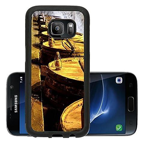 Liili Premium Samsung Galaxy S7 Aluminum Backplate Bumper Snap Case IMAGE ID 32520953 Details of very old wine - Rioja Wine Cellar