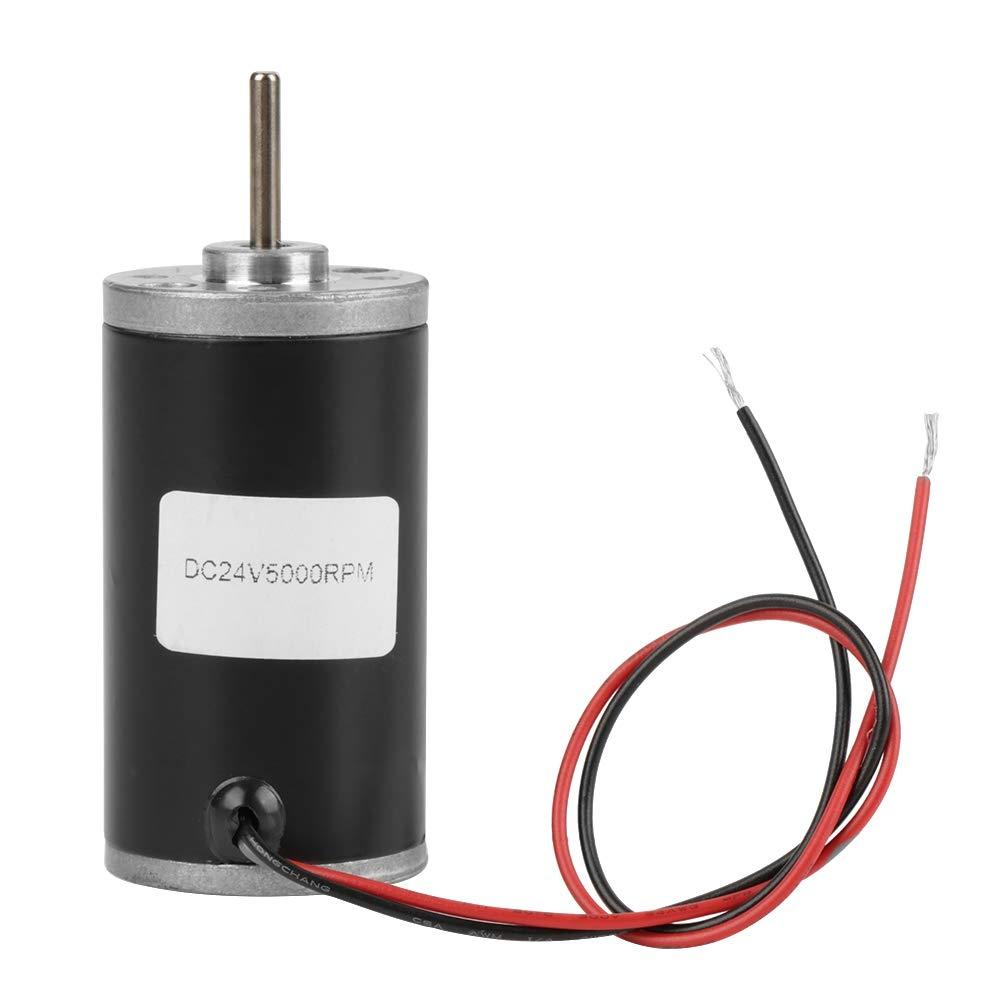 31ZY Permanent Magnet Motor, 6V/12V/24V 3500-8000RPM Permanent Magnet DC Motor Electric Brushed Motor CW/CCW (24V 5000RPM)
