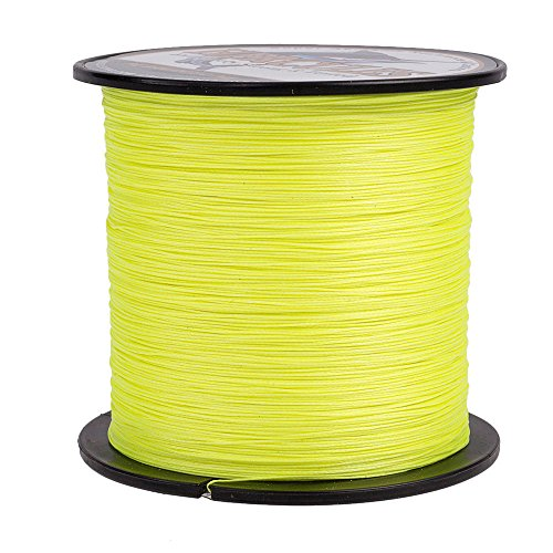 HERCULES Super Cast 300M 328 Yards Braided Fishing Line 15 LB Test for Saltwater Freshwater PE Braid Fish Lines Superline 8 Strands - Fluorescent Yellow, 15LB (6.8KG), 0.16MM
