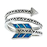 Montana Silversmiths Women's Sky Fletched Arrow Ring Silver 8