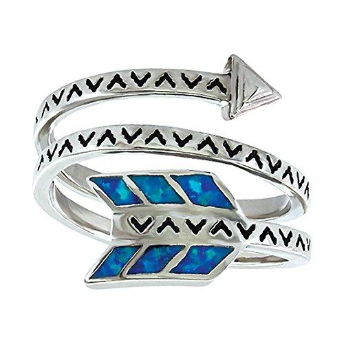 Montana Silversmiths Women's Sky Fletched Arrow Ring Silver 7