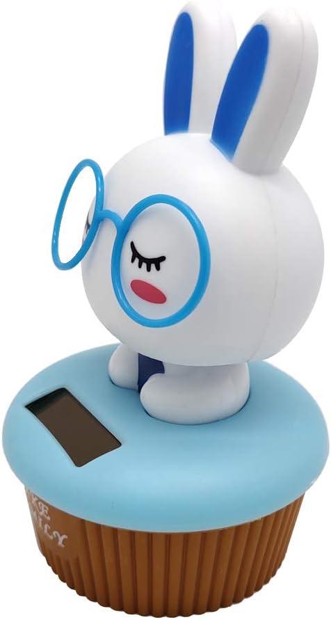 KESOTO Kaninchen Wackelfigur Solarfigur Solarbetriebenes Spielzeug Ornament f/ür Auto Schrank Schreibtisch usw Blau