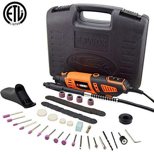 (Rotary Tool Kit Variable Speed with Flex Shaft - Electric Rotary Drill/Sander/Grinder/Cutting/Polishing Tool, with 101pcs Multi-functional Accessories&2 Attachments&1 Carrying Case,for House and Craft)