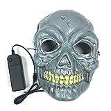 ShiyiUP Halloween LED Luminescent Face Mask Scary Skeleton