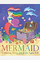 Mermaid Coloring Book for Kids Ages 4-8: 40 Cute, Unique Coloring Pages Paperback
