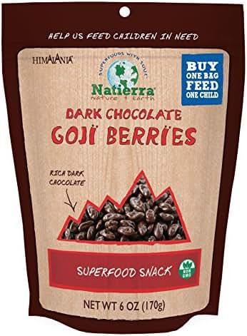 Dried Fruit & Raisins: Natierra Dark Chocolate Goji Berries